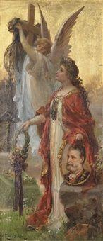 Apotheose auf Dr. Karl Lueger Wien 1844-1910 by Hans Zatzka