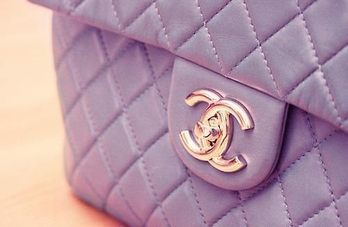 chanel in my favorite color. love lilac