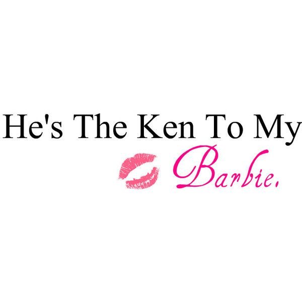 Barbie quote by zoey-use.♥ ❤ liked on Polyvore
