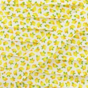 Biais coton citrons