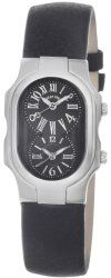 Philip Stein Women's 1-MB-CB Signature Black Leather Strap Watch