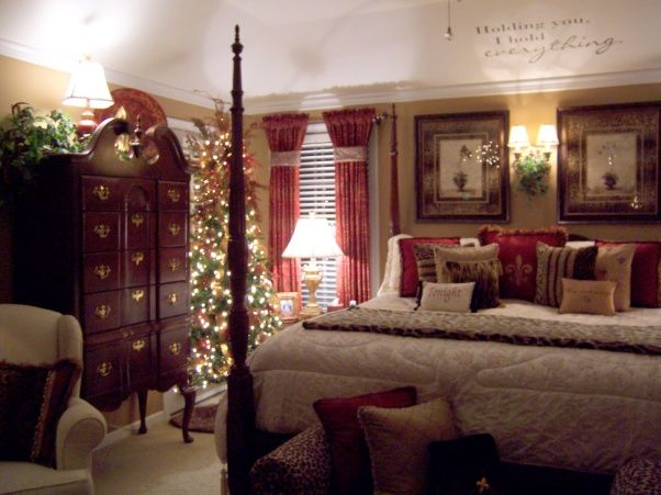 Bedroom Christmas Decorating Ideas 390 best christmas bedrooms images on pinterest | christmas