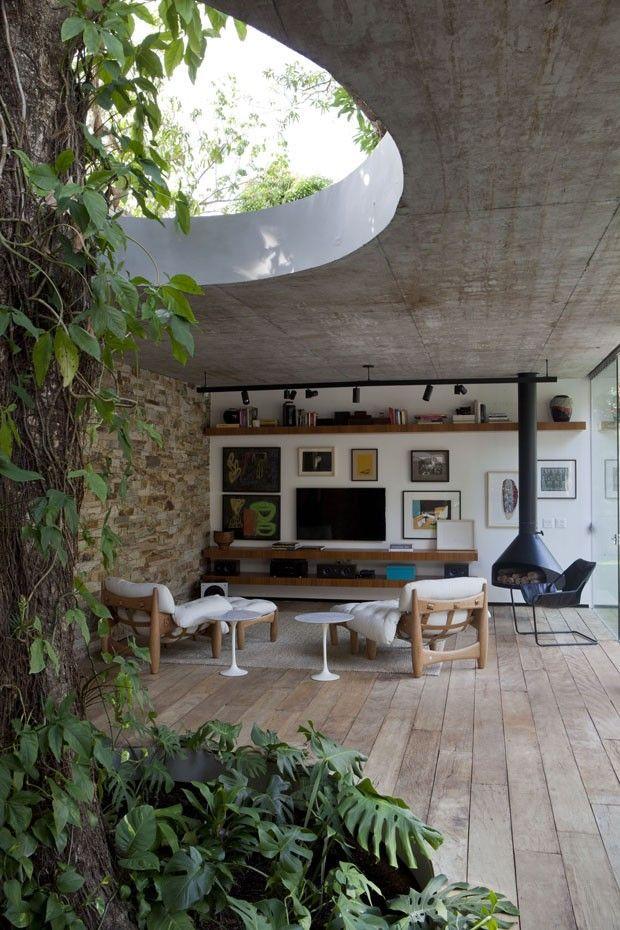 #livingroom #concreteceiling #brickwall #interior #interiordesign #コンクリート打放し #リビングルーム #インテリア