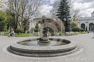 Park in old Sanatorium Marconi in Busko-Zdrój in Poland. Europe.
