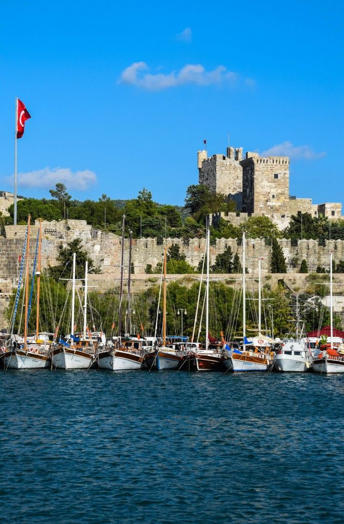 Bodrum Castle, Turkey - It's the first sight you see from the ferry as you approach the coast of the resort town of Bodrum
