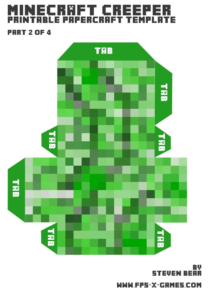 Pix For Minecraft Printables Creeper Minecraft Printables