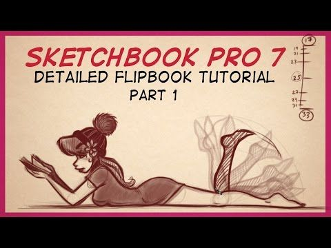 Autodesk Sketchbook Pro 7 FlipBook Tutorial Part 1 - YouTube