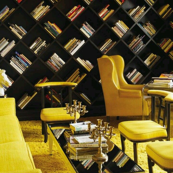 Bookcase. Looks like it's made from wall mounted wine racks.