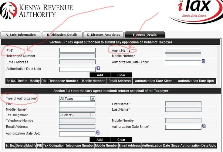 KRA Authorized Tax agents list VAT Consultants, agent pin and - basic application form