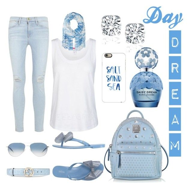 """""""Dreamer"""" by aliciak60 on Polyvore featuring Frame Denim, Marc Jacobs, Gucci, Oliver Peoples, adidas, Melissa, MCM, Lauren Ralph Lauren and Casetify"""
