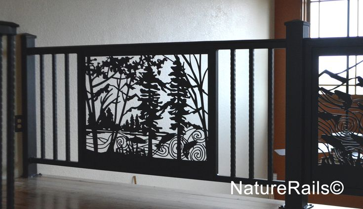 Custom Railing Artistic Panel Insert With Spindles Welded Amp Powder Coated For A No