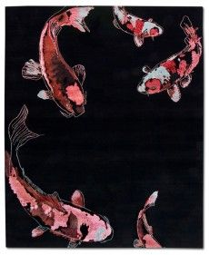 RUG STAR COLLECTION DIMENSIONS: 250CM X 300CM Koi No 09 - Red Sea, wool and silk