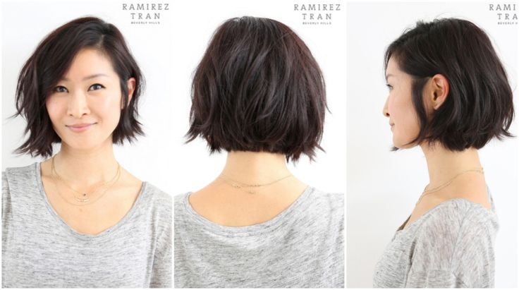 Anh gave this client a modern, chic cut that looks gorgeous with her features…