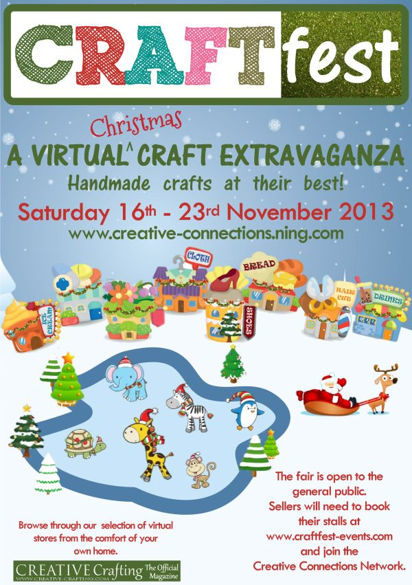 Christmas CRAFTfest 2013 16th - 23rd November  For more info and to grab your virtual stall visit http://www.craftfest-events.com