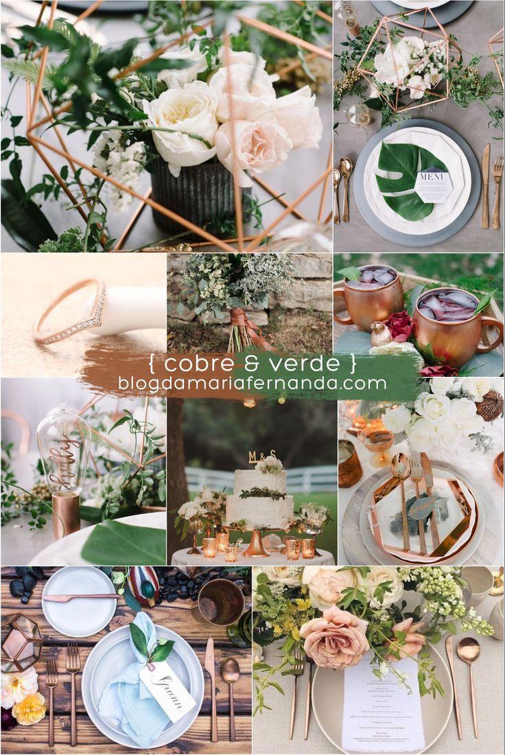 Decoração de Casamento : Paleta de Cores Cobre e Verde | Blog de Casamento DIY da Maria Fernanda