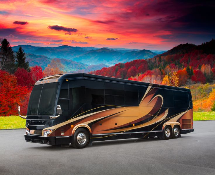 Marathon Coach Show Coach #1214 was built on a Prevost H3-45 with triple slides. With multiple 50-inch televisions, Marathon's patented TechLink system, solid wood planking throughout the salon and galley, stone flooring in the bathroom, fireplace and so much more, this coach quickly makes a positive impression.