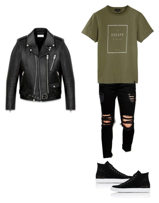 """""""Jimin"""" by skylarsong ❤ liked on Polyvore featuring Dark Future, Roamers & Seekers, Common Projects, Yves Saint Laurent, men's fashion and menswear"""