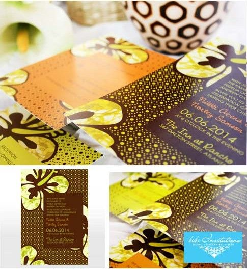 African themed Wedding Invitations: Bibi Invitations + Discount + Giveaway…