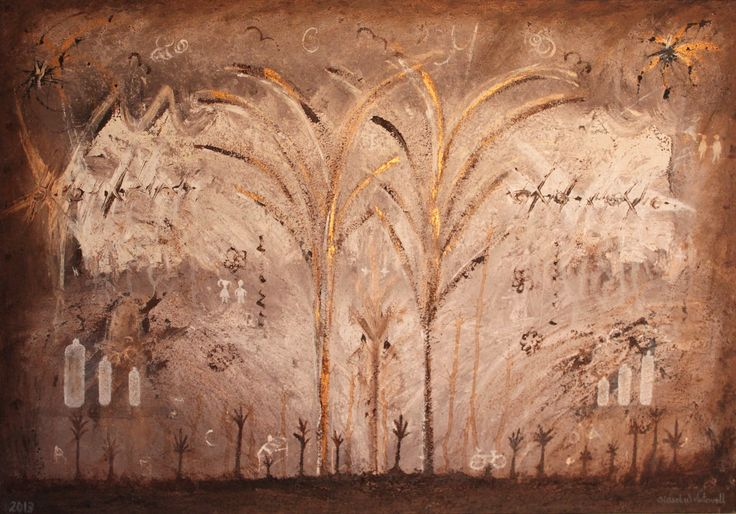 """Kunst / Art - Akyl / Acryl - Lerett / Canvas - Interiør / Interior. """"Promenaden"""", 100 x 70 cm. www.vintervollmalerier.com"""