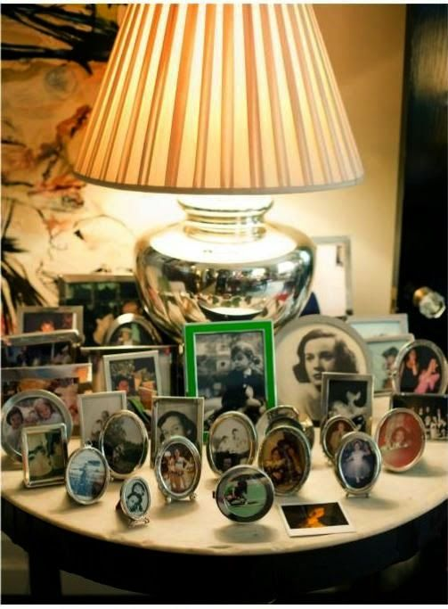 little black door: framed - displaying family pictures