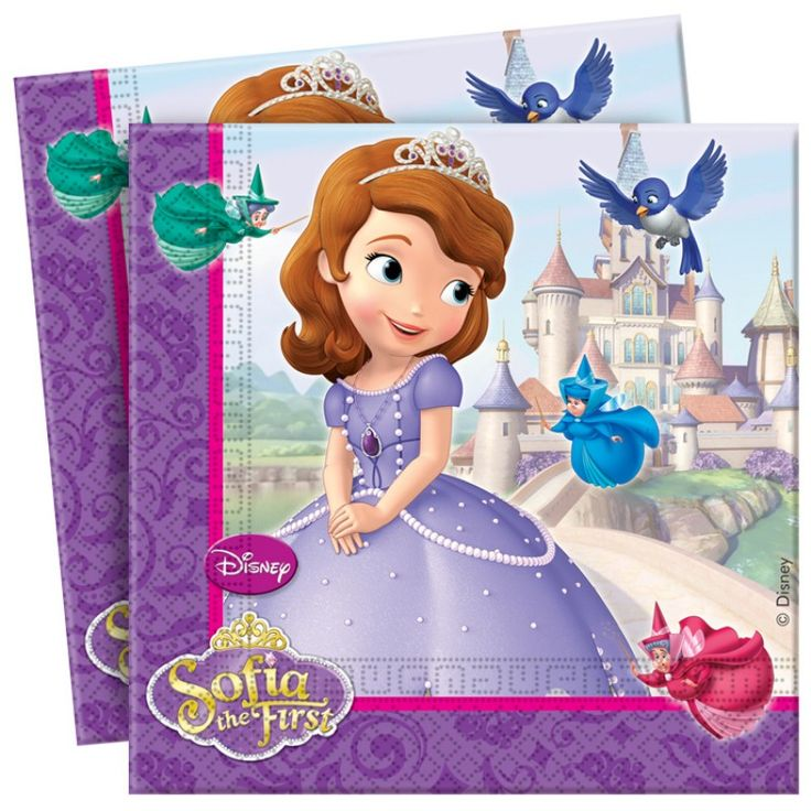 Disney Sofia The First Party Paper Napkins - Disney Sofia The First - Party Themes A-Z - Kids' Party
