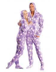 Purple Haze Hooded Adult Footed Pajamas = $54.00