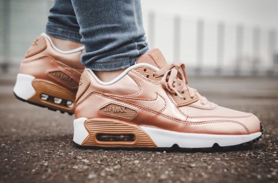 On-Feet Look At The Nike Air Max 90 Metallic Bronze