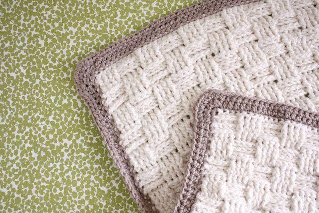 Nesting: Basket Weave Crochet Baby Blanket - delia creates