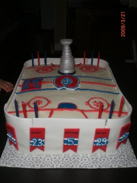 Montreal Canadiens Stanley Cup Ice Rink Cake