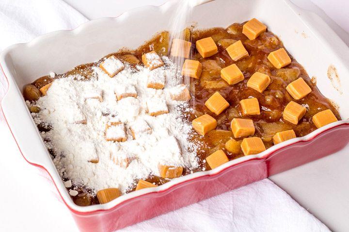 Simple Caramel Apple Dump Cake Recipe | The Bearfoot Baker