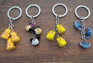 Lot Stitch Winnie Picachu Mickey Brass Jingle Bell Pendant Charms Keychain | eBay