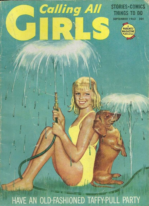 Calling All Girls - September 1962.  Dachshund on cover!