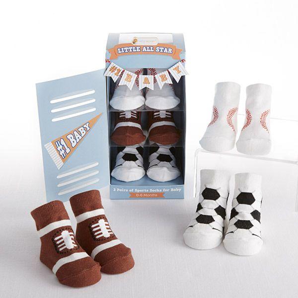 """""""Little All Star"""" 3-Pair of Socks Baby Gift Set"""