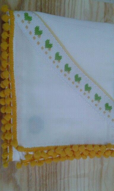 Enxoval fralda bordada de algodao da BabyHome Handmade.