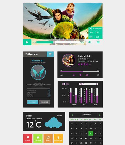 Best Examples of Flat UI Designs