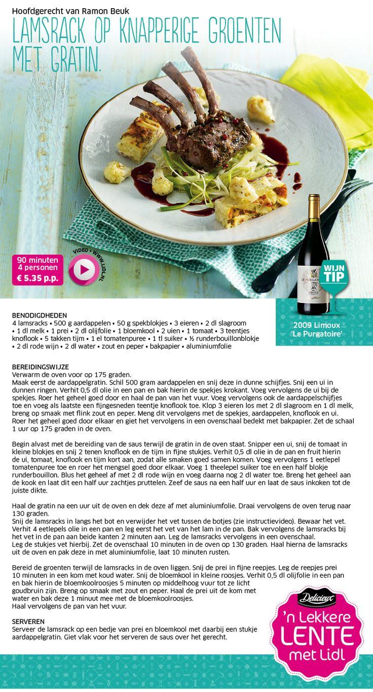 Lamsrack op knapperige groenten met gratin - Lidl Nederland