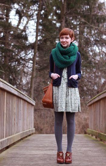 上品な色合いが素敵! ◎スヌード コーデ ファッション スタイル◎