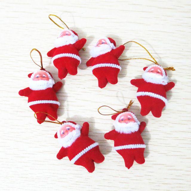 1 шт. Красный Санта-Клауса Рождественские Украшения Кулон Подарки Игрушки Фигурку Рождество Праздничный Платье Подвесные Игрушки