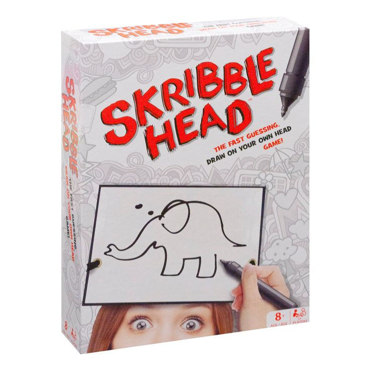 Buffalo Games Scribble Head Drawing Game