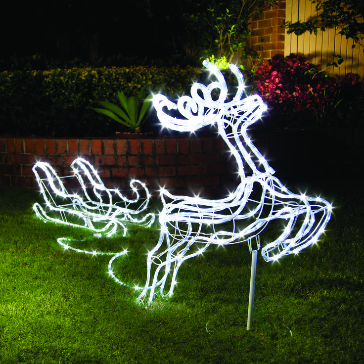 Our reindeer light is charged by sun during the day ready to be lit up by night #solar #festive
