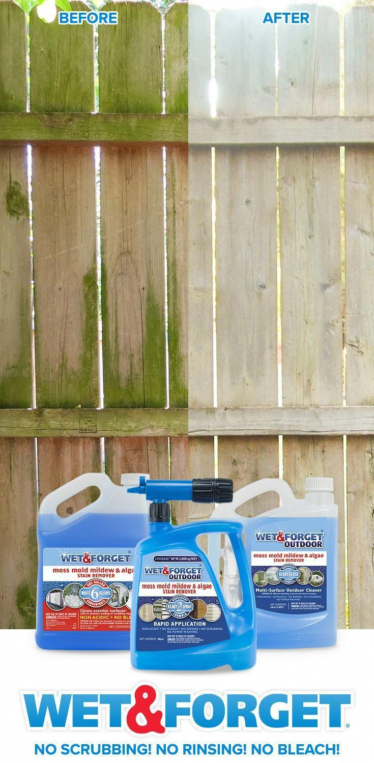 Clean your fence without any scrubbing wet