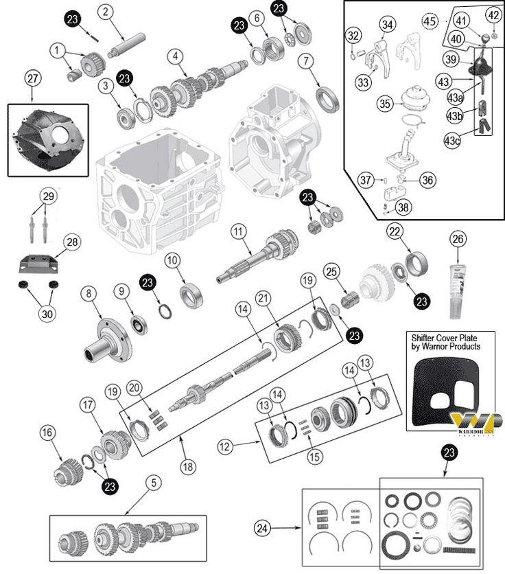 4 speed manual transmission diagram
