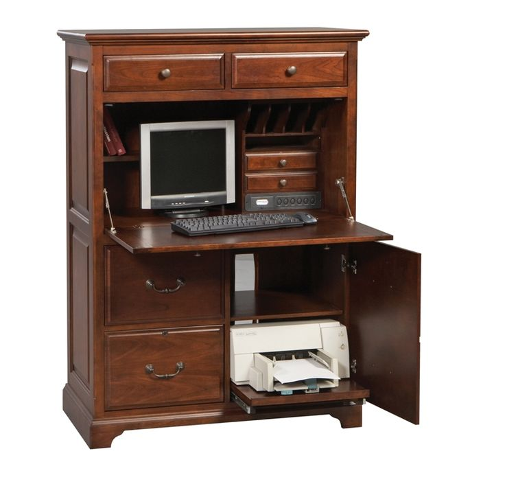 excellent computer desk armoire to know