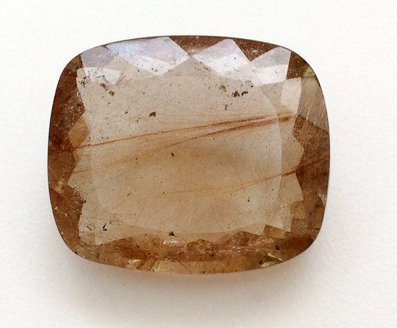 Copper Rutile Quartz Rutile Quartz Rectangle by gemsforjewels