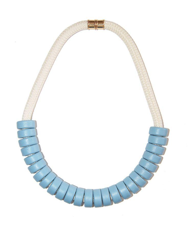 Ceramic Bead   Rope Necklace - Powder - Indigos Market