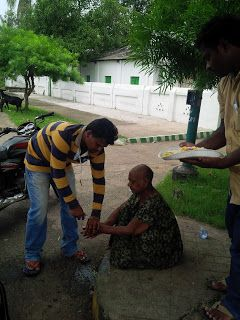 Serve the poor and needy vth love &affection : Mother's affection