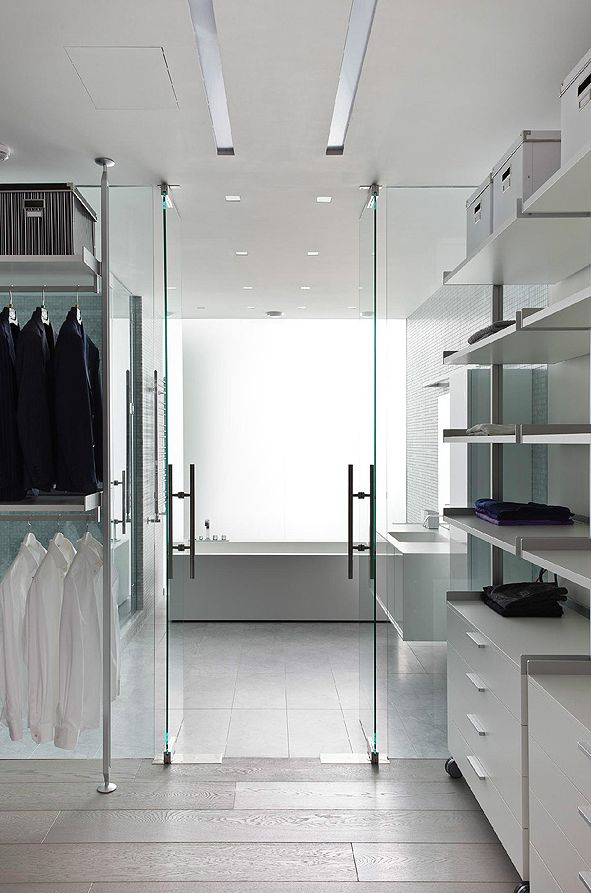 Bathroom-Dressing Room, apartment in Mirax Plaza, Moscow designed by Boris Uborevich Borovsky _