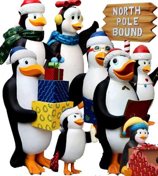 Figuras Decoración Temática Pingüino Madagascar Navidad