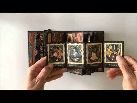 Graphic 45 Steampunk Spells Pocket Style Mini Album - YouTube