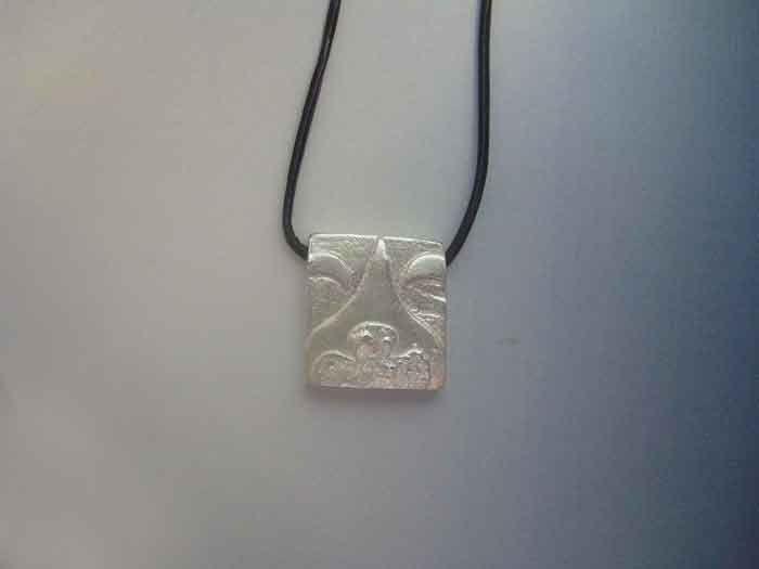 mayan kin seal night akbal sterling silver 925 pendant necklace colgante sello maya noche plata de ley amuleto zodiacal by Algaba on Etsy
